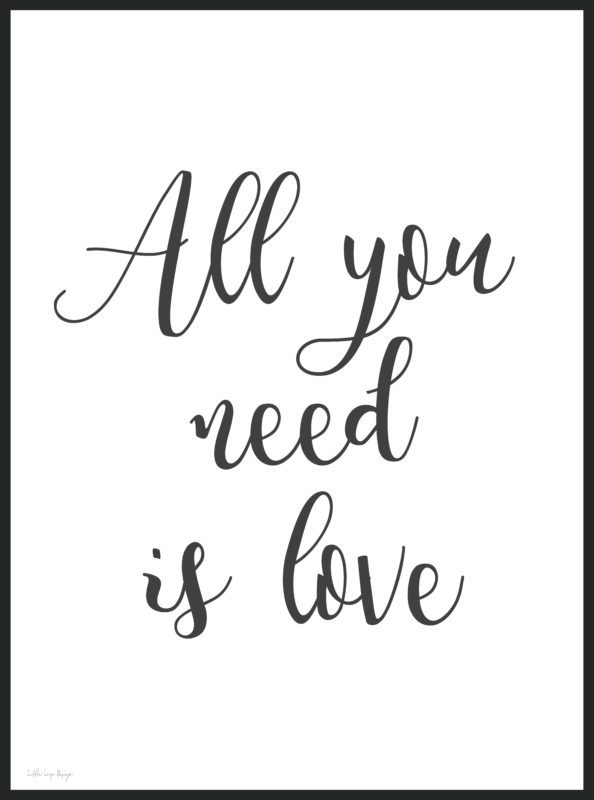 1024 - All you need is love - poster