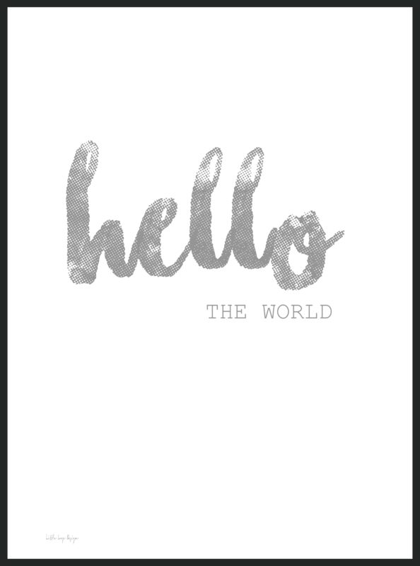 Hello the world - poster