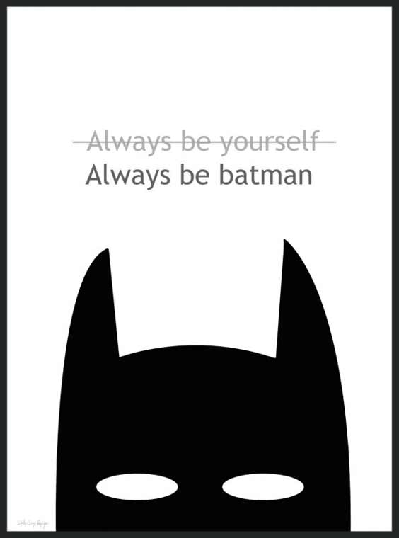 Always be batman - Barnposter